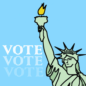 Lady Liberty says VOTE