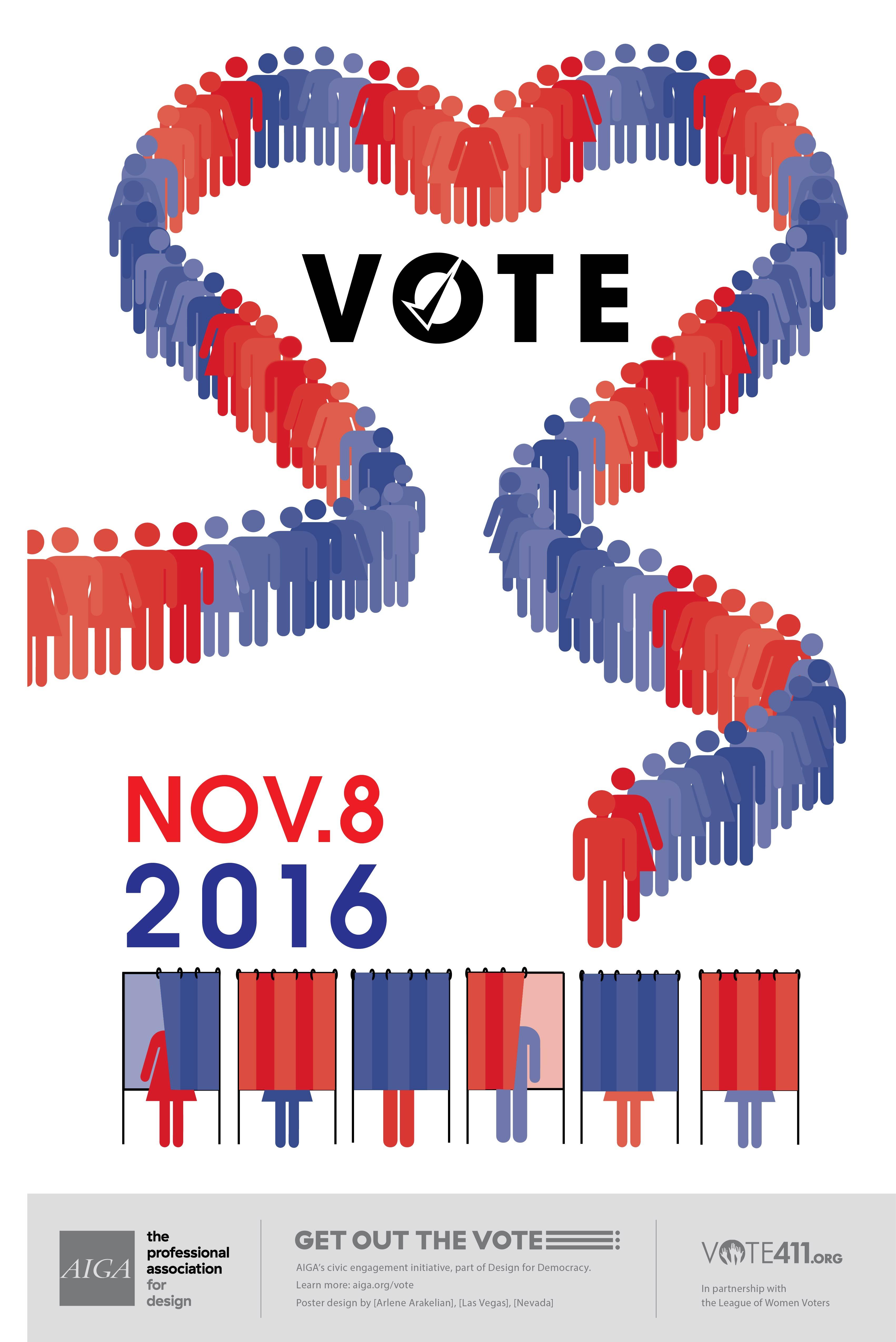 Show the love, go VOTE!