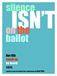 Silence isn't on the ballot