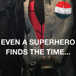 Even A Superhero Finds The Time