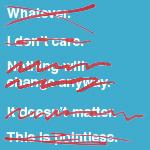 Negative perspective=Negative outcome.