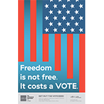 Freedom is not free. It costs a vote.