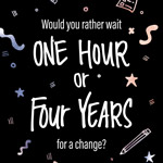 One Hour or Four Years?