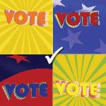 Vote Pop Art Style